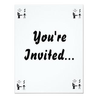 parada usted está bajo humor de la música de la invitación 10,8 x 13,9 cm