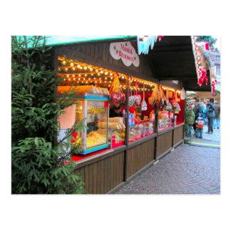 Paradas alemanas del mercado del navidad tarjetas postales