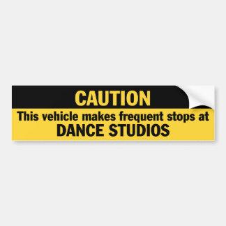 Paradas frecuentes (danza) etiqueta de parachoque