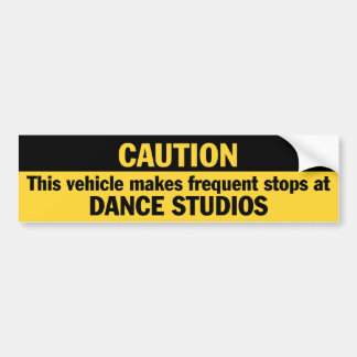 Paradas frecuentes danza etiqueta de parachoque