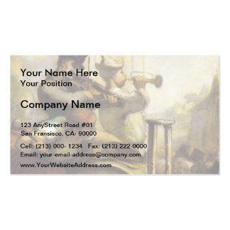 Parade Acrobats by Honore Daumier Business Card