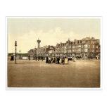 Parade and revolving tower, Morecambe, England rar Post Card