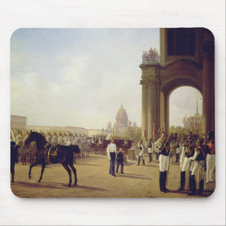 Parade at the Palace Square in St. Peterburg Mouse Pad