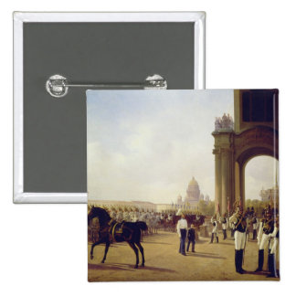 Parade at the Palace Square in St. Peterburg Pinback Button