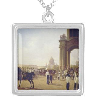 Parade at the Palace Square in St. Peterburg Silver Plated Necklace