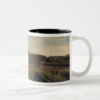 Parade at the time of Emperor Paul I  1847 Two-Tone Coffee Mug