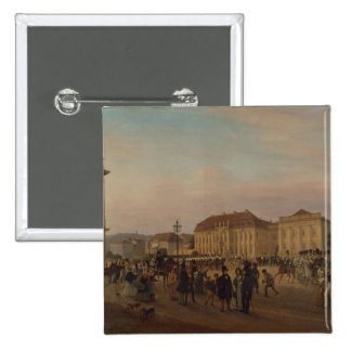 Parade before the royal palace, 1839 button
