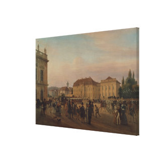 Parade before the royal palace, 1839 canvas print