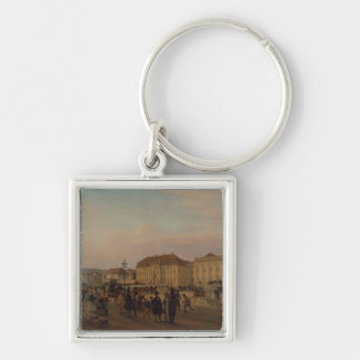 Parade before the royal palace, 1839 keychain