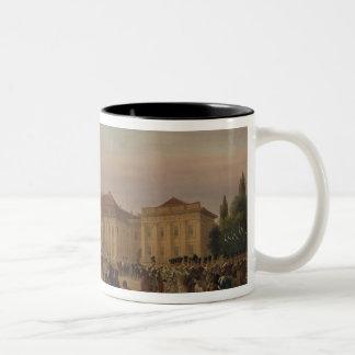 Parade before the royal palace, 1839 Two-Tone coffee mug