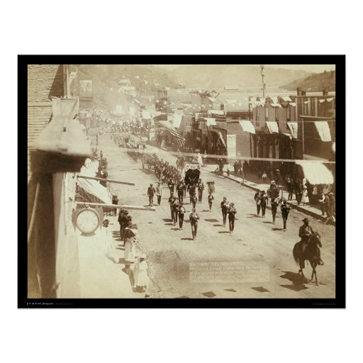 Parade Celebrating Deadwood Gold Silver SD 1888 Poster