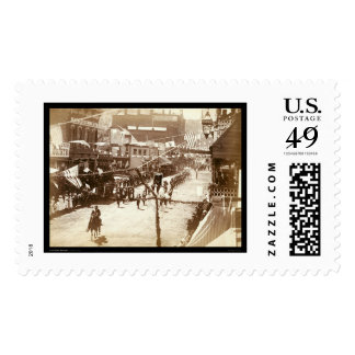 Parade Celebrating Deadwood Railroad SD 1888 Postage Stamps