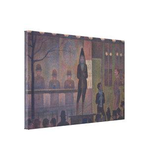 Parade de Cirque by Georges Seurat Canvas Print