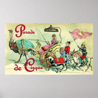 Parade de Cirque Vintage Circus Poster