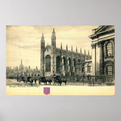 Parade de rey, vintage 1915 de Cambridge Inglaterr Impresiones