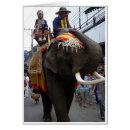 Parade Elephant Greeting Cards