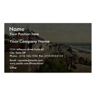 Parade (i.e., promenade) and Coast Guard Station, Double-Sided Standard Business Cards (Pack Of 100)