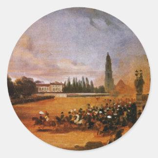 Parade In Potsdam (Study) By Franz Krüger Classic Round Sticker