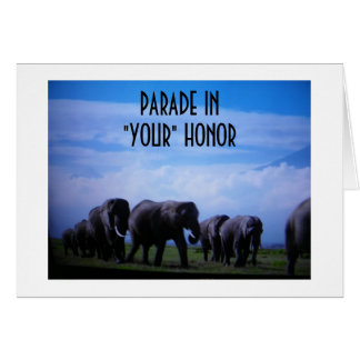 """""""PARADE IN """"YOUR"""" HONOR GRADUATE"""" CARD"""