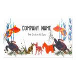 Parade of Pets. Fish Cat Dog Business Card Template