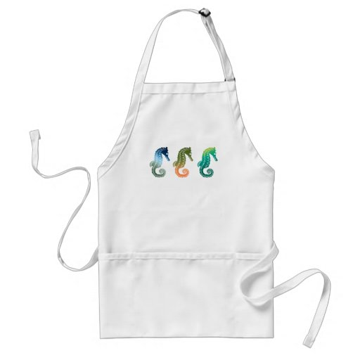 Parade of Tropical Seahorses Adult Apron