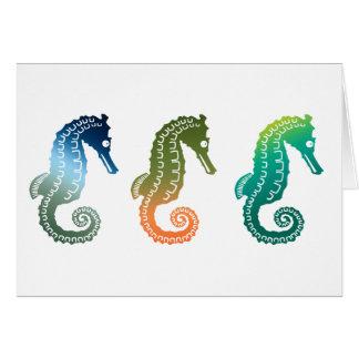 Parade of Tropical Seahorses Greeting Cards