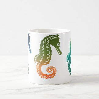 Parade of Tropical Seahorses Coffee Mug