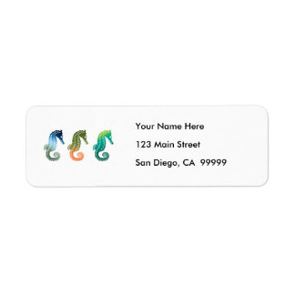 Parade of Tropical Seahorses Label