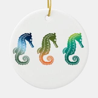 Parade of Tropical Seahorses Christmas Tree Ornament