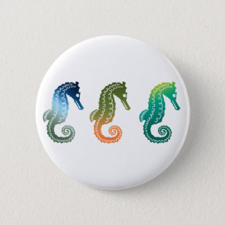 Parade of Tropical Seahorses Pinback Button