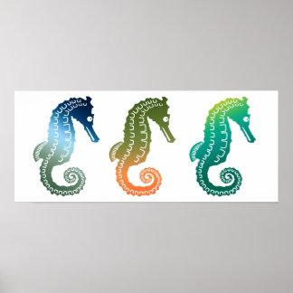 Parade of Tropical Seahorses Print