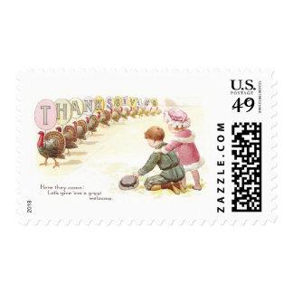 Parade of Turkeys Stamp