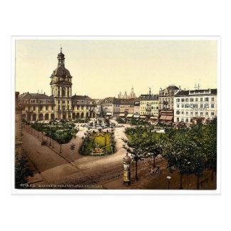 Parade Place and Kaufhaus, Karlsruhe, Baden, Germa Postcard