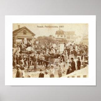 Parade, Provincetown, 1885 Vintage Poster