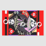 Parade Queen of Hearts by Sharles Rectangular Stickers