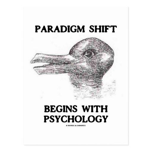 Paradigm Shift Begins With Psychology Postcard