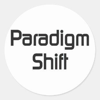 Paradigm Shift bf Classic Round Sticker
