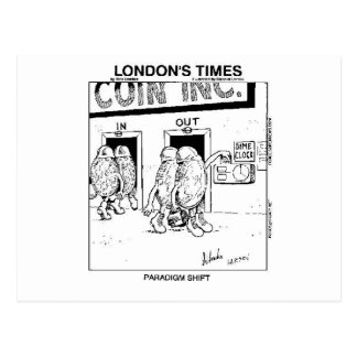 Paradigm Shift Funny Cartoon Gifts & Collectibles Postcard