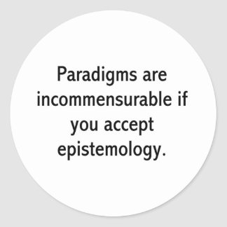 Paradigms Classic Round Sticker