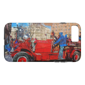 Parading Antique Fire Truck Abstract Impressionism iPhone 7 Plus Case