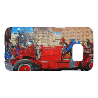 Parading Antique Fire Truck Abstract Impressionism Samsung Galaxy S7 Case
