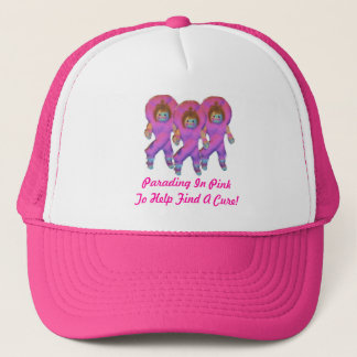 Parading In Pink Ribbon Dolls Trucker Hat