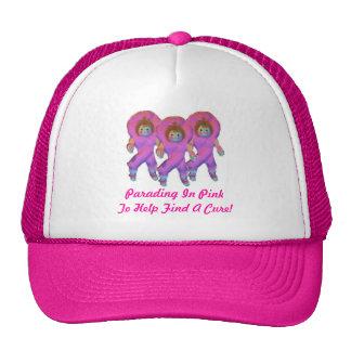 Parading In Pink Ribbon Dolls Trucker Hat