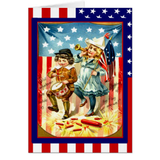 Parading on the 4th of July Greeting Cards