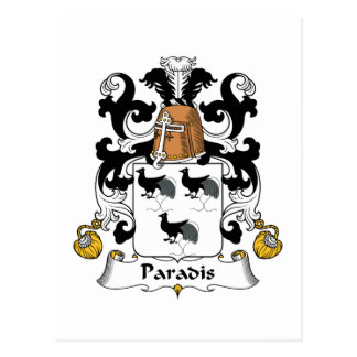 Paradis Family Crest Postcard
