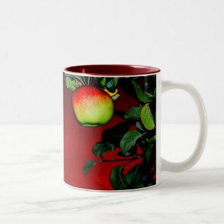 Paradise apple Two-Tone coffee mug