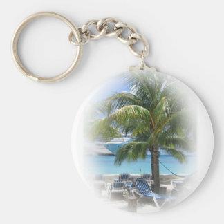 Paradise Basic Round Button Keychain
