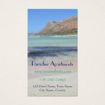 Beach Themed Paradise Beach Business Card