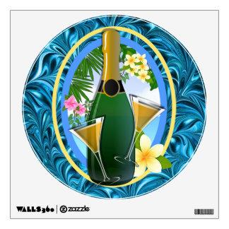 Paradise Beach Champagne  - SRF Wall Sticker