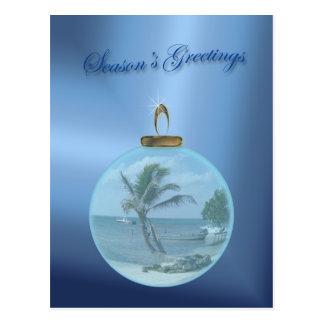 Paradise Beach Christmas Wishes Postcard